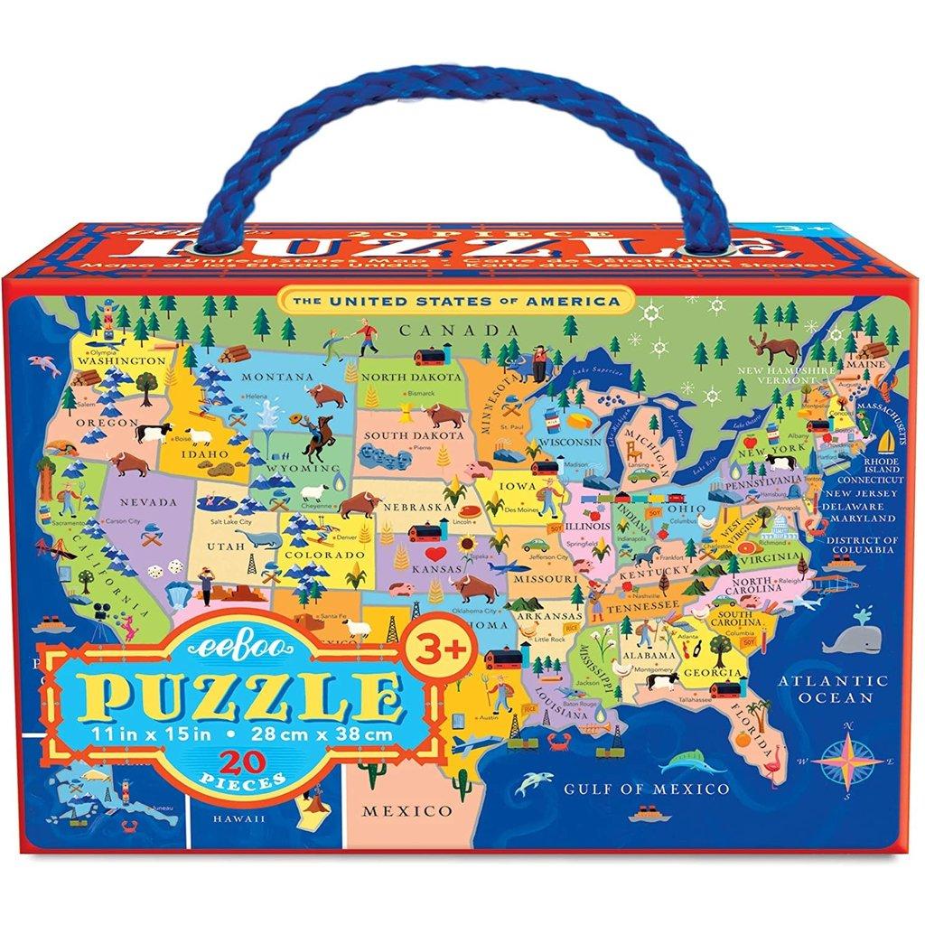 USA Maps 20 Piece Puzzle-Disc.