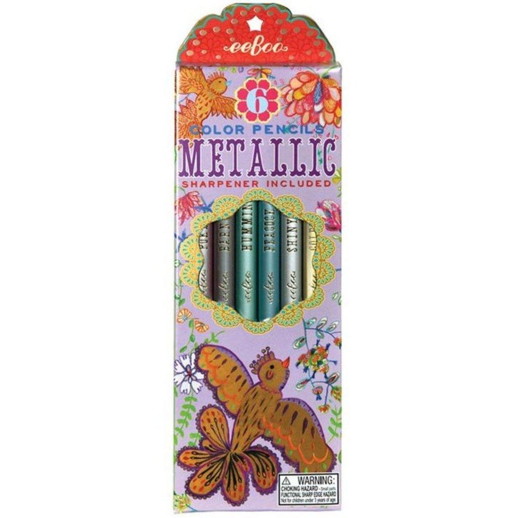 Gold Birds Metallic Pencils-Disc.
