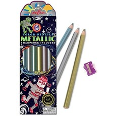 Silver Robot Metallic Pencils w/Sharpener