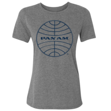 Pan Am Logo Women's Tee Grey