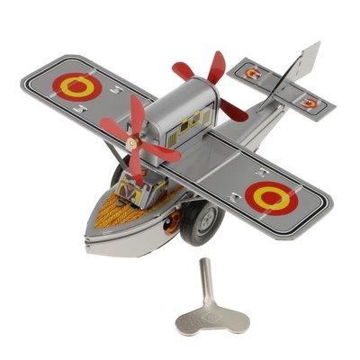 Collectible Tin Toy - Sea Plane-Silver
