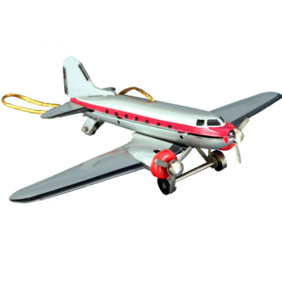 Collectible Tin Ornament - DC-3 Airplane