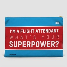 Large Flat Pouch I'm a Flight Attendant