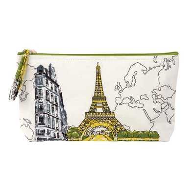 Paris Eiffel Tower Handmade Pouch