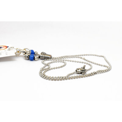 GB Ball Chain Lanyard Blue