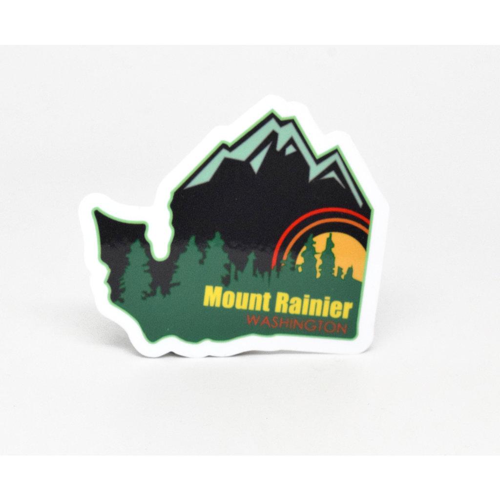 Mount Rainier Washington Die Cut Sticker