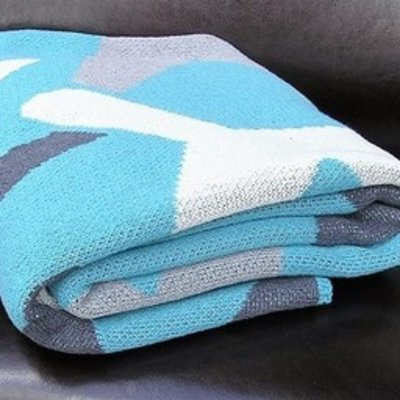 Airplane Flight Throw Blanket by Planewear