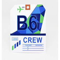 Baggage Tag Die-Cut Sticker-B6 CREW