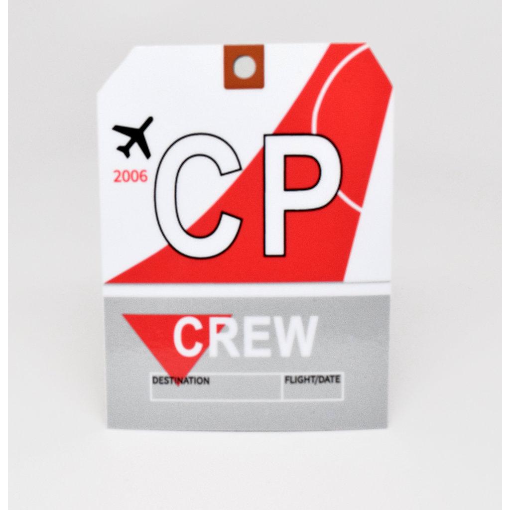 Baggage Tag Die-Cut Sticker-CP CREW