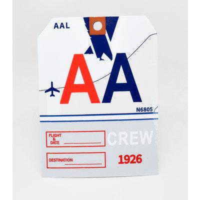 Baggage Tag Die-Cut Sticker-AA CREW