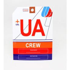 Baggage Tag Die-Cut Sticker-UA CREW