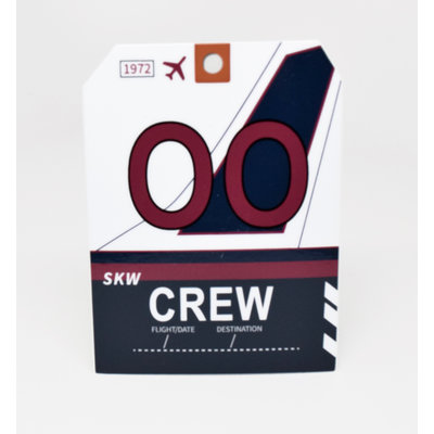 Baggage Tag Die-Cut Sticker-OO CREW