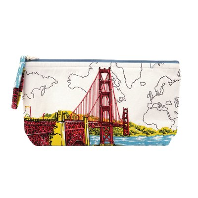 San Francisco Golden Gate Bridge Handmade Pouch