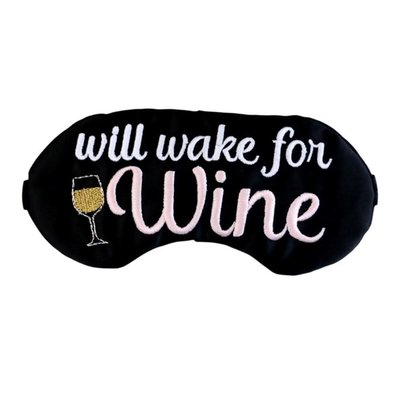 Will Wake for Wine Eye Mask