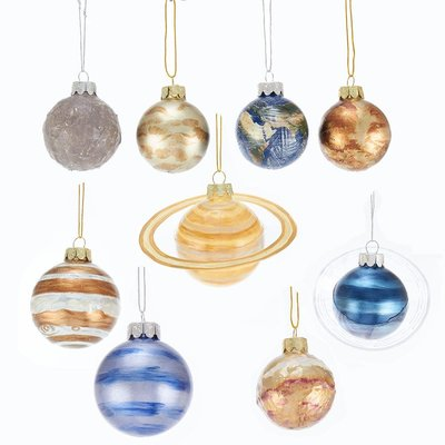 Solar System Glass Ornaments
