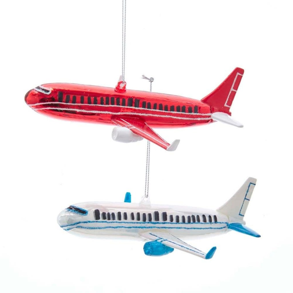 Glass Plane Ornaments-Red