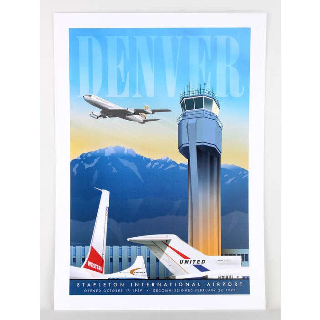 JAA Denver Stapleton Airport Poster 14 X 20