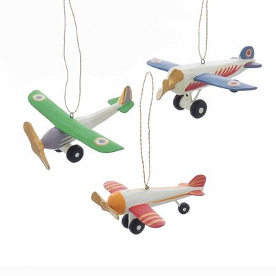 Wooden Piper Plane Ornament