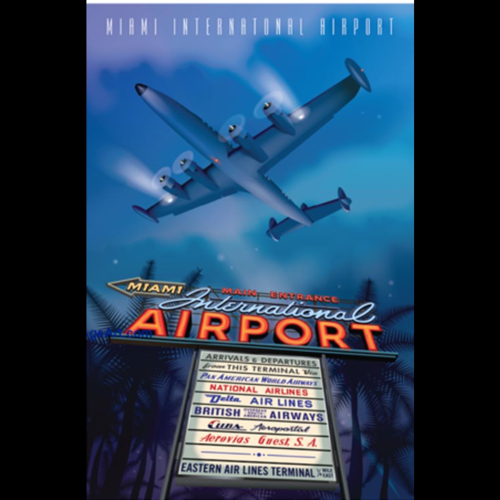 JAA MIA Miami International Airport Poster 14 X 20