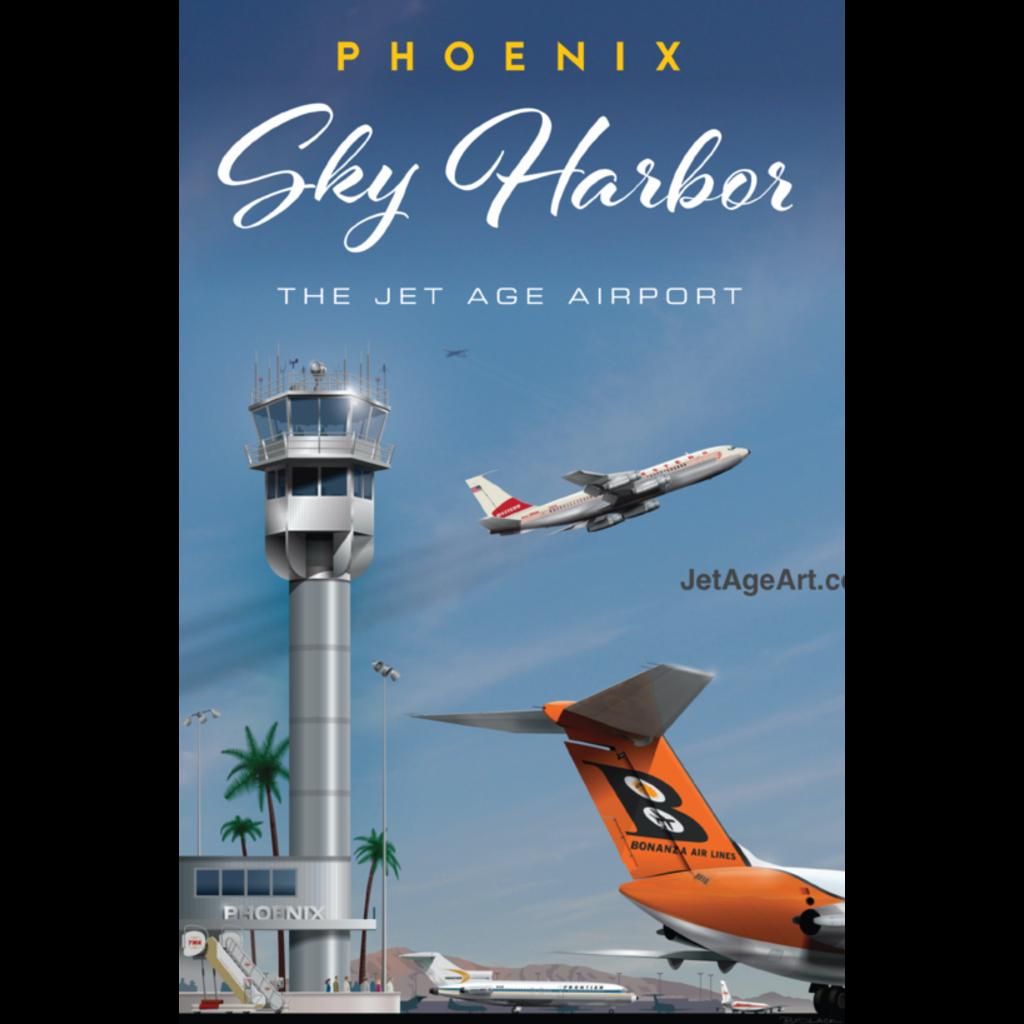 JAA Phoenix Sky Harbor Poster 14 X 20