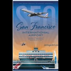 JAA SFO Airport Poster 14 X 20