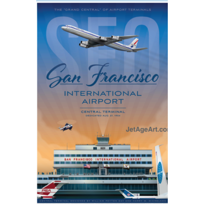 JAA SFO Airport Poster 14 X 20