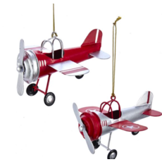 Red and Silver Airplane