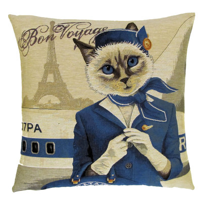 Tapestry Cushion Cover CatAir