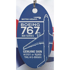Plane Tag 767 British Airways-Blue  OUT