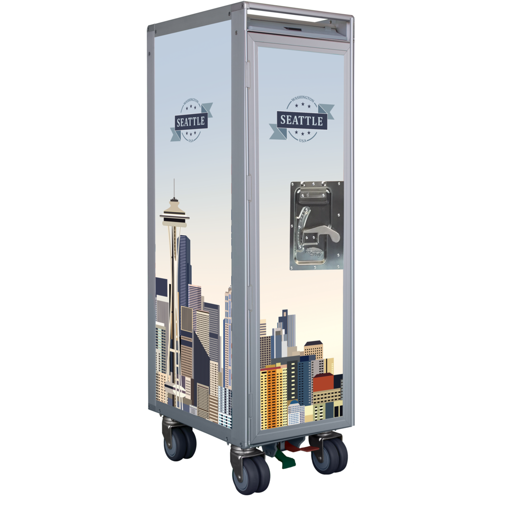 Seattle Skyline Galley SkyCart with No Accessories