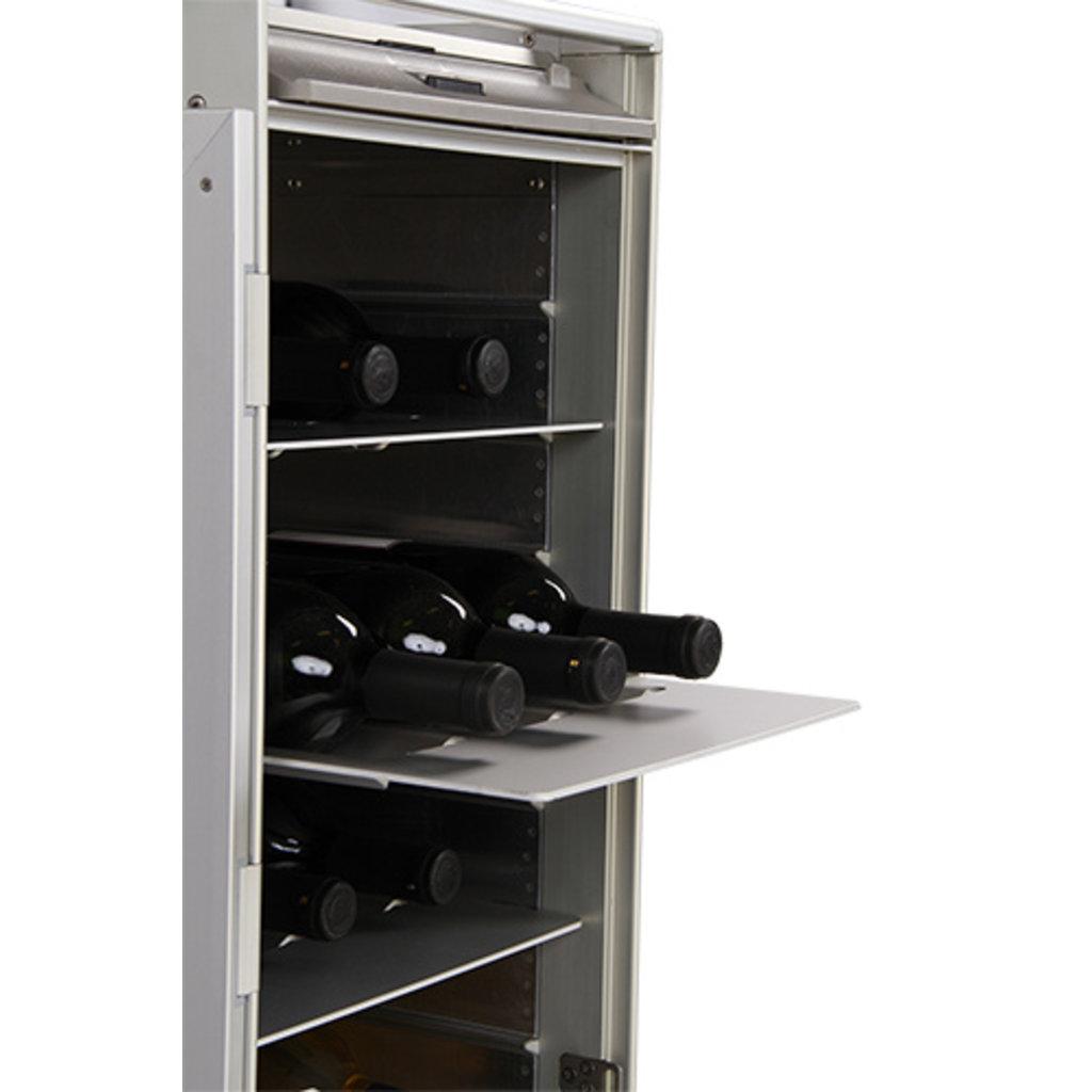 Galley Skycart  Aluminum Wine Shelf