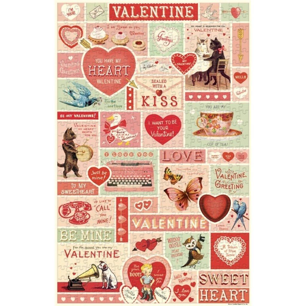 Vintage Valentine 500 Piece Puzzle