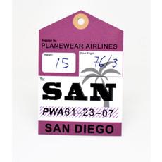 Baggage Tag Die-Cut Sticker-SAN