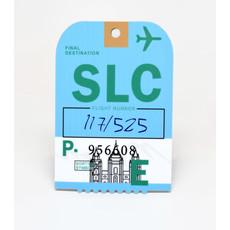 Baggage Tag Die-Cut Sticker-SLC
