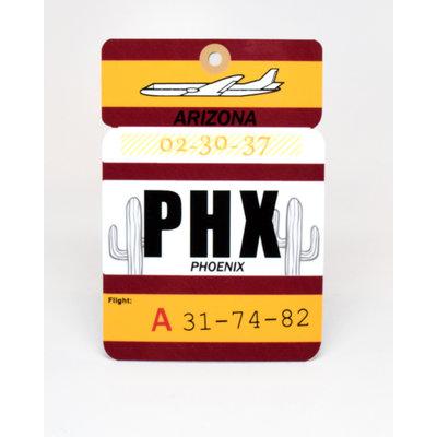 Baggage Tag Die-Cut Sticker-PHX