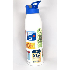 City Code Baggage Tag Water Bottle-Blue