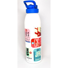 City Code Baggage Tag Water Bottle-Blue Sport Cap