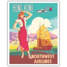 Northwest Orient Chinese Junk Hong Kong Print 9 x 12