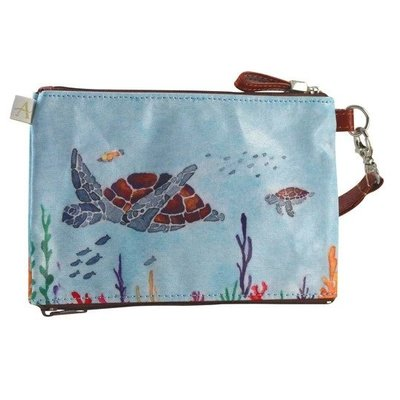 Double Zipper Pouch-Sea Turtle