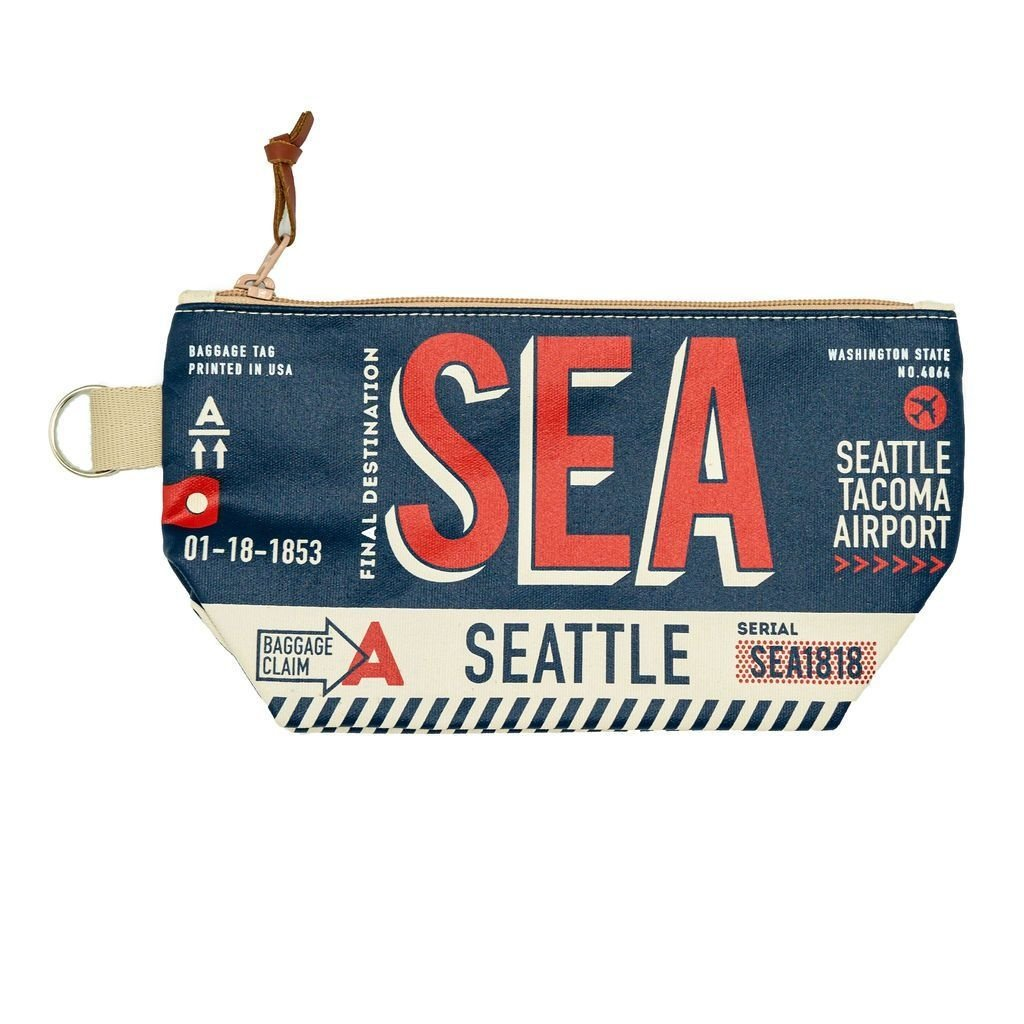 Seattle Luggage Tag Pouch-Navy