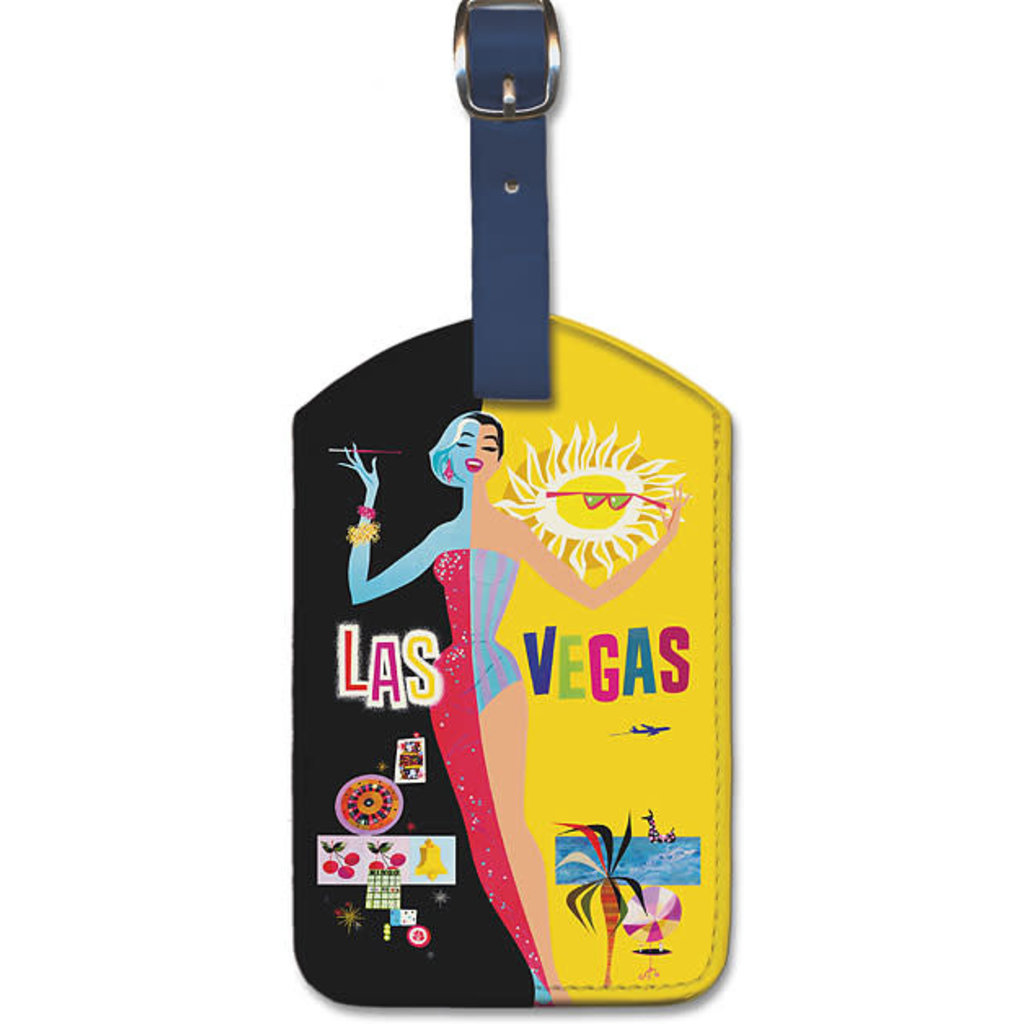 Luggage Tag TWA Night and Day Las Vegas
