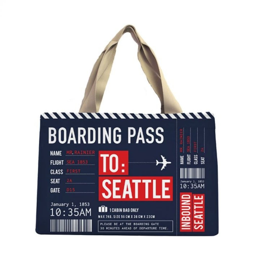 Boarding Pass Bag-Navy w/ zipper