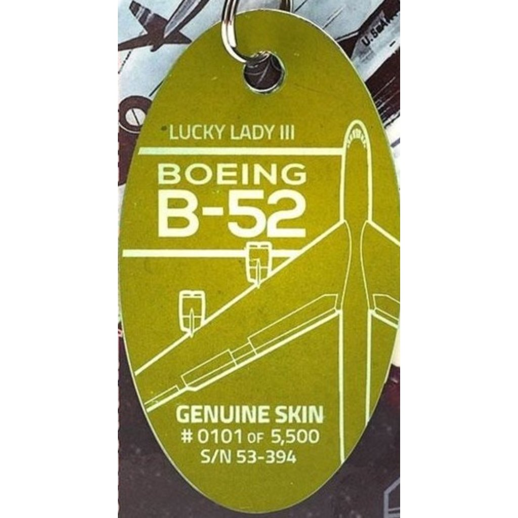 Plane Tag Boeing B-52 Lucky Lady III-Ohio Patina-OUT
