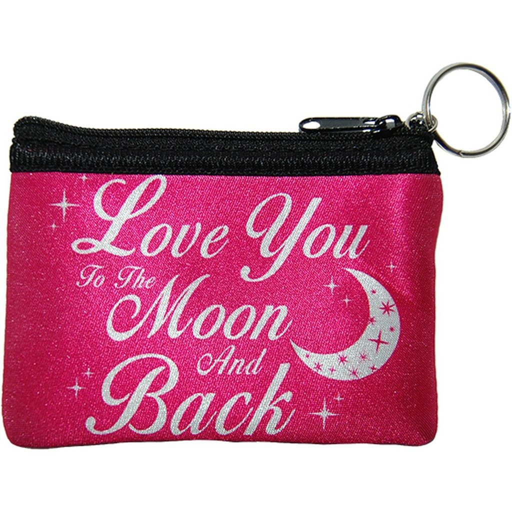 Love you to the moon and back coin purse