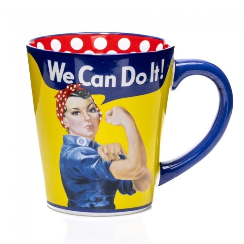 Rosie the Riveter Polka Dot Mug