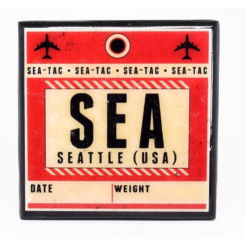 SEA (USA) Vintage Coaster-Red