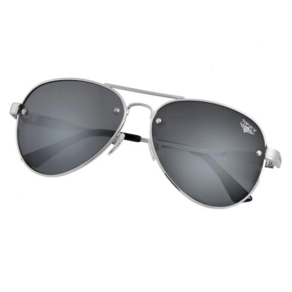 "Top Gun® Aviator ""Rivet"" Sunglasses-Silver"