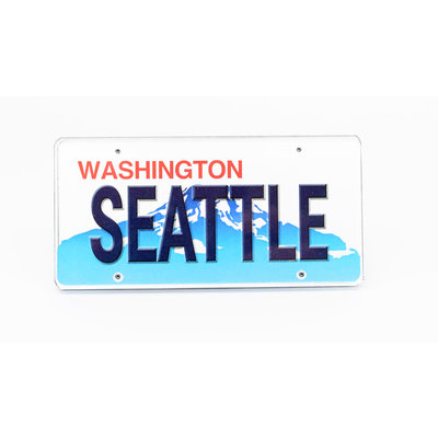 Acrylic Seattle License  Magnet