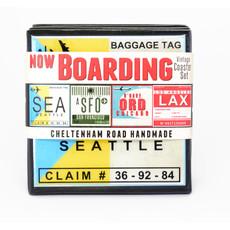 Now Boarding Vintage Coaster Set