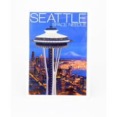 Seattle Aerial View Space Needle  Magnet